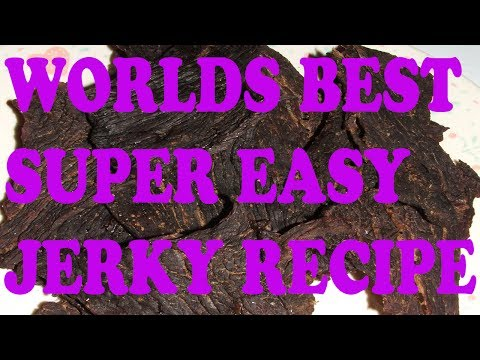 Worlds Best and Easiest Beef Jerky Recipe
