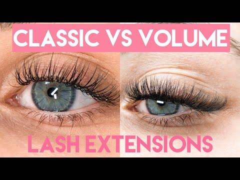 Classic VS Volume Lash Extensions   SAME CLIENT