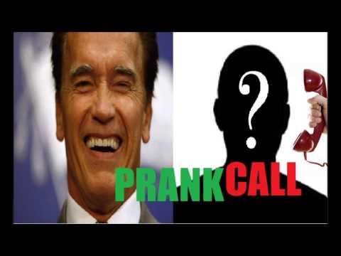 PRANK CALL Arnold Schwarzenegger Funniest Prank Ever