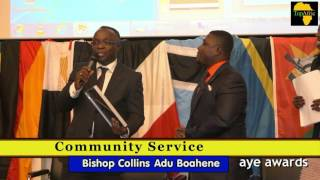 Alhaji Bobby Nyass & Bishop Adu Boahene receives African Community Prize