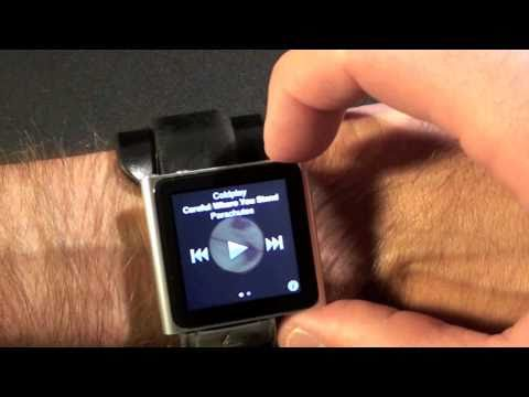 ipod as a watch - In this video I show you how to configure the Apple iPod nano 6G as a wrist watch.