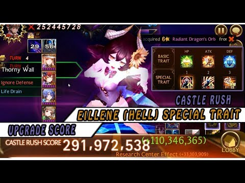 Seven Knights - Castle Rush Hell Eilene (Special Trait) Upgradre Score From 114M To 150M