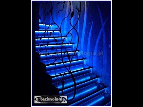 Taśma LED RGB Paski LED RGB, oświetlenie schodowe, podświetlanie schodów