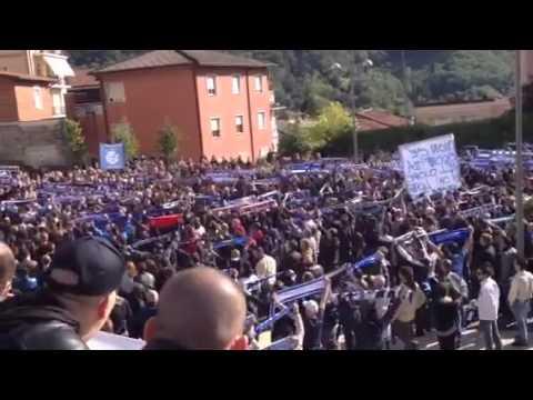 Funerali di Andrea Toninelli: gli ultras uniti nel ricordo