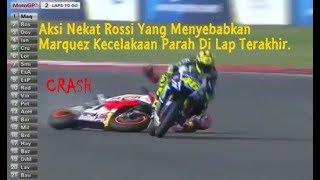 Video Aksi Nekat Rossi Mengejar Marquez Yang Menyebabkan Marquez Kecelakan Parah Di Lap Akhir MP3, 3GP, MP4, WEBM, AVI, FLV November 2017
