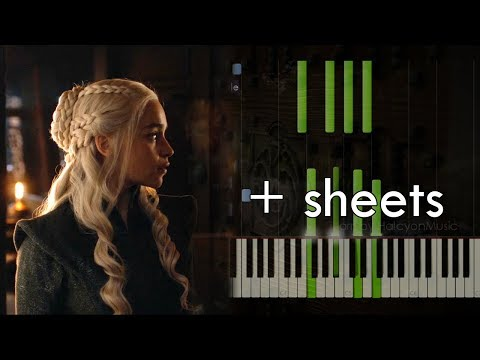 Truth - GoT Season 7 Finale (piano Tutorial+sheets Arr. By HalcyonMusic)