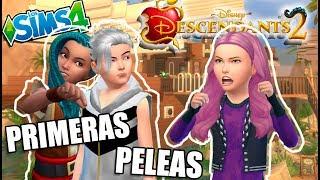 AMIGOS EN CONTRA!! PRIMERAS PELEAS DE MAL!! | Ep.2 | LOS DESCENDIENTES 2 - LOS SIMS 4