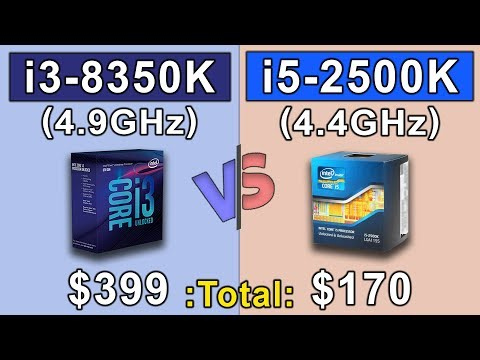 I3 8350K (4.9GHz) Vs I5 2500K (4.4GHz) | COMPARISON