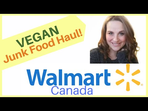 VEGAN Grocery Haul-Junk Food!! Find Cheap, Vegan Snacks At Walmart Canada In 2019!
