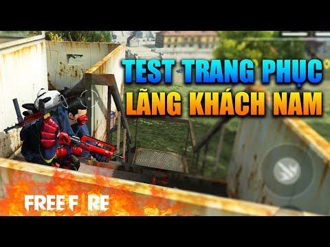 [Garena Free Fire] TEST Trang Phục Lãng Khách Nam | Sỹ Kẹo - Thời lượng: 13 phút.
