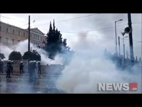 Video - Διέλυσαν το συλλαλητήριο: Χημικά, ξύλο, μαχαιρώματα, λιποθυμίες - Vid