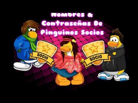 nombres y contraseñas de 7 pinguinos socios octubre 2011(MIREN LA FECHA!!) NO SIRVEN!!