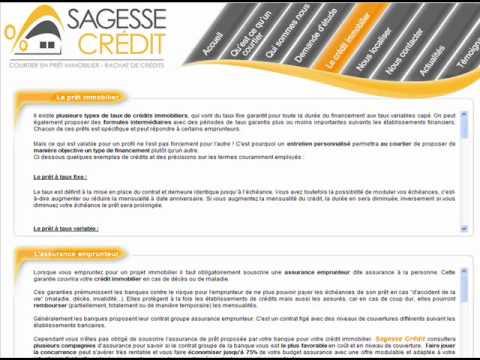 SAGESSE CREDIT - Votre négociateur en crédit immobilier à Rodez et à Castres.wmv