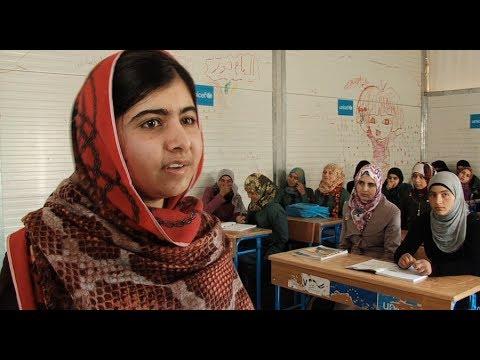 Jordan: Malala Visits Zaatari Refugee Camp