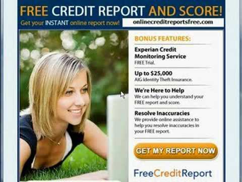 FREE Credit Report All 3 Bureaus
