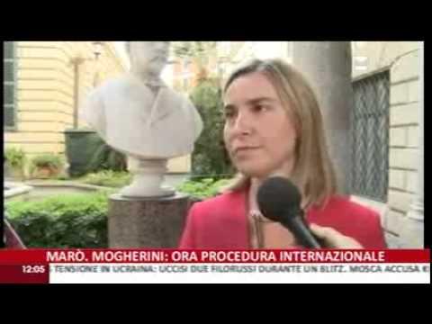 Marò: il Ministro Mogherini a RaiNews 24