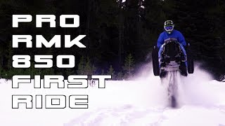 4. First Ride on the 2019 Polaris PRO RMK 850! - Vlog #2