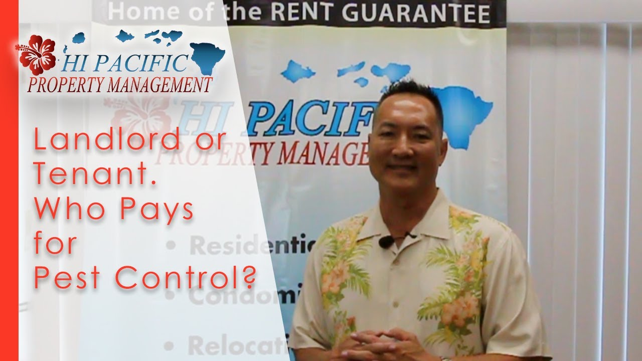 Landlord or Tenant. Who Pays for Pest Control?