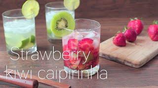 Strawberry kiwi caipirinha