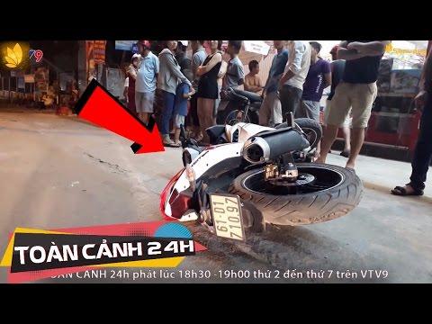 Thắng gấp văng ra khỏi xe máy, nam thanh niên bị xe tải cán qua người   Toàn cảnh 24h