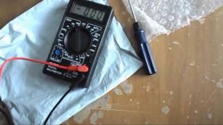 Цифровой мультиметр DT-830B дешевоСсылка http://s.click.aliexpress.com/e/qFyvV7iПрибор предназначен для следующих основных измерений: значений электрического тока, напряжения, сопротивленияOFF/on - выключатель питания прибора. DСV - измерение напряжения постоянного токаACV - измерение напряжения переменного токаDCA - измерение постоянного тока (амперметр)Ω - Измерение сопротивленияДетальную инструкцию по мультиметру DT-830B берем на гуле