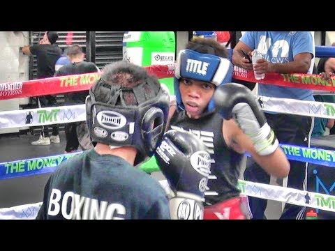 USA Vs. Australia- Young Kids Sparring Inside The Mayweather Boxing Club