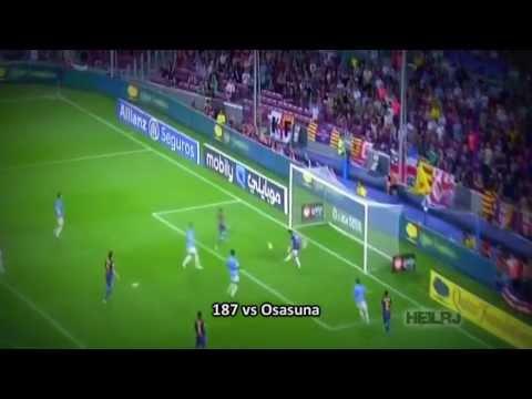 Os 301 golos de Lionel Messi