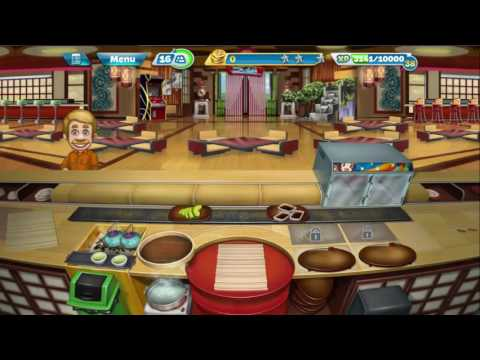 Cooking Fever: Sushi Restaurant Levels 1-2