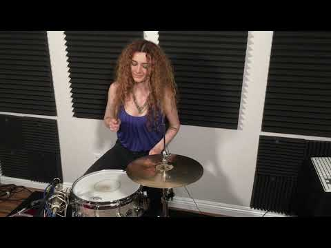 SoZo Diamond Christina Aguilera 39Get Mine, Get Yours39  Pop Drum Remix Female Drummer