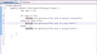 19. else if Statement - Java Programming Tutorials