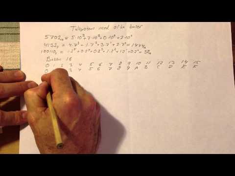 Talsystem med olika baser