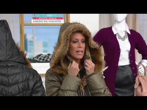 G.I.L.I. Faux Fur Trimmed Down Puffer Coat on QVC