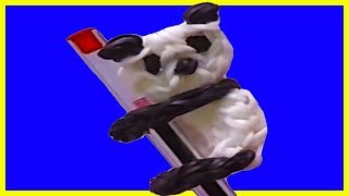 Panda pencil hugger with two forks without Rainbow Loom Tutorial. (Mini Figurine) olgacrafts - YouTube