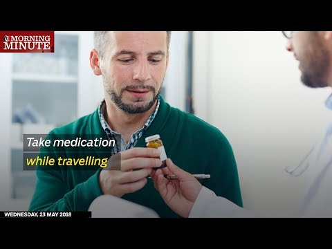 Take medication while travelling