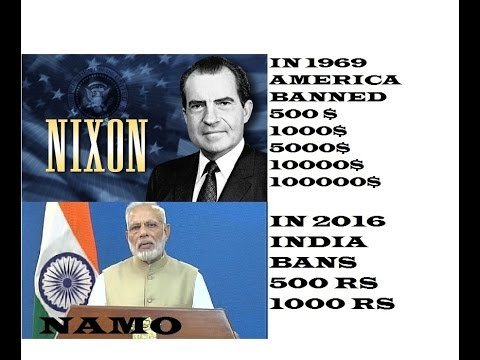 In 1969 America Banned Dollars In2016 IndiaBans