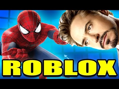 HUNTING TONY STARK FOR PRESIDENT SPIDERMAN! - ROBLOX Framed w/gutiotyu