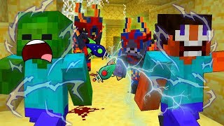 Steve INVADED By ALIENS - MINECRAFT STEVE AND BABY ZOMBIE [34]