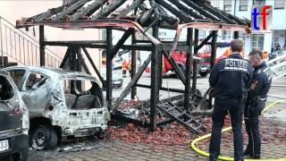 Backnang Germany  city photo : **Box Alarm** Fire Destroyed Cabin & Cars / Brand Aspacher Str., Backnang, Germany, 06.04.2016.