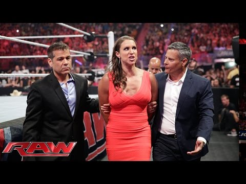 raw - Stephanie McMahon pays the price for attacking Brie Bella earlier on Raw.