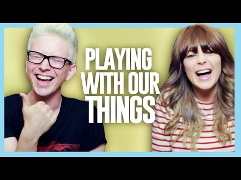 PLAYING WITH OUR THINGS %28ft. Grace Helbig%29 %7C Tyler Oakley
