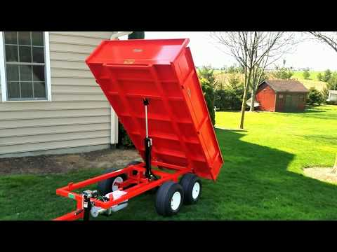 ATV Dump Trailer DT-4000 with electric over hydraulic dump.