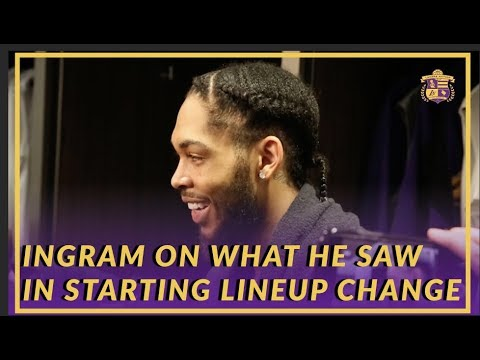 Video: Lakers Post Game: Brandon Ingram On What He Saw From The Starting Lineup Change