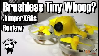 """This is the review of the Jumper x68, it's essentially a brushless """"Tiny Whoop"""" with the frame dimensions exactly the same.  Will it provide oddles more power in the same package ?This quad was kindly provided for review by Babnggood.com.  Here are the (affiliate) links to the product and some flash deals:The Jumper x68 - http://bit.ly/2s0CQP6Banggood latest flash deals - http://bit.ly/2rvzErfApologies if this video is waaaay too long.  I wouldn't have been if I didn't find a whole bunch of issues that I attempted to resolve myself.  Could just be that I was that unlucky individual who's ESC blew up, but I do believe there's a design flaw in the frame strength.  If they could sort this out and build it with more quality control, then we'd have a great little indoor flyer, but as it is now - it's really not up to par."""
