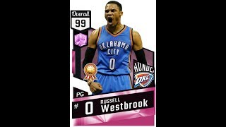 So Excited. Finally got a pink diamond for Myteam Nba 2k17 and it's MVP Russell Westbrook. Did you guys get him to? He looks amazing!