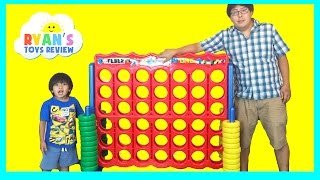 GIANT CONNECT 4 FAMILY GAME NIGHT!