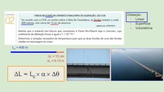 Resolução da questão 2, da prova de física do Vestibular da UERJ, exame de discursivo, para o ano letivo de 2016 Termologia Dilatação linear