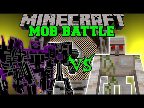 EPIC ROBOTS VS MUTANT IRON GOLEM & HERCULES BEETLE – Minecraft Mob Battles – Mods