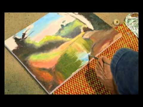 Adolfo Neto - Pintura com os pés em Cambui - MG