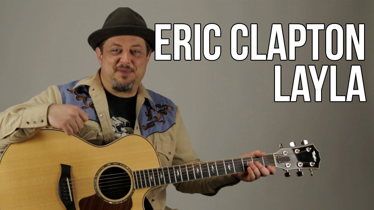 Eric Clapton Unplugged – Layla Guitar Lesson – Acoustic Blues – How to Play on Guitar