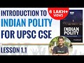 Polity Lecture for UPSC CSE (IAS) : 1.1 Introduction - YouTube